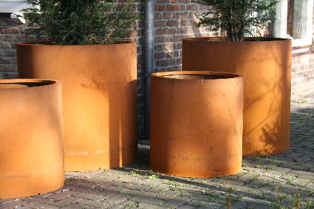 Heavy Duty Commercial Corten Steel Planters Passion For Pots
