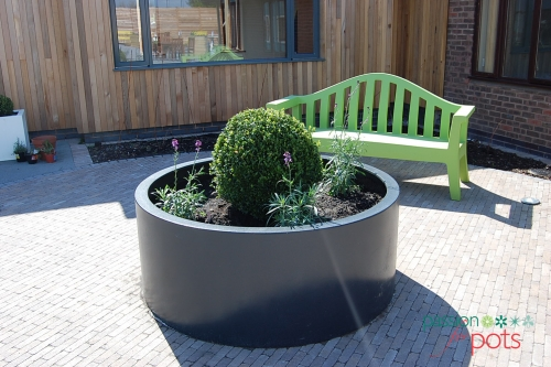 Large Round Outdoor Planter Passion For Pots