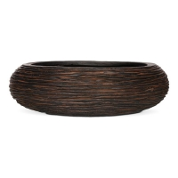 Ribbed Brown Bowl Planter