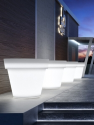 Urban Illuminated Exterior Flower Pot