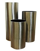 Elemental Tall Stainless Steel Cylinder Planter