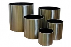 Elemental Stainless Steel Cylinder Planter