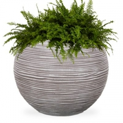 New Urban Texture-Lite Ribbed Sphere Planter