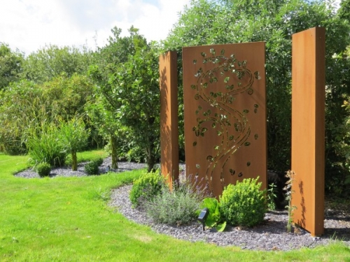 Corten Steel Wall Passion For Pots