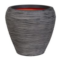 Ribbed Round Tapered Vase