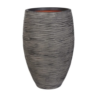 Ribbed Tall Vase Shaped Planter