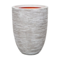 New Urban Texture-Lite Ribbed Low Vase