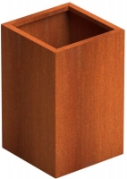 Elemental Corten Tall Cube Planter